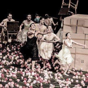 Pina Bausch par le Tanztheater Wuppertal au Théâtre du Châtelet et au Théâtre de la Ville par Angélique Lagarde  dans Danse nelken2013-32-300x300
