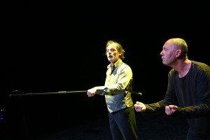 Christophe Alévêque et Francky Mermillod dans Ça ira mieux demain © Xavier Cantat